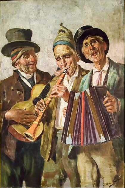 Three Merry Musicians painting