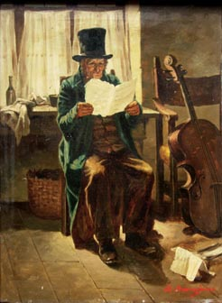 Old Musician with Cello painting