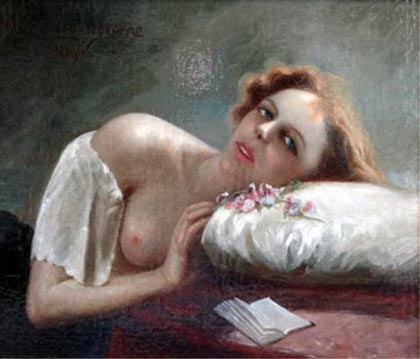 Reclining Woman  painting