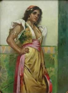 Tambourine Woman painting