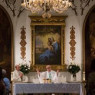 Manhattan church with Donatus Buongiorno mural to close