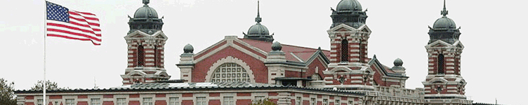 Main building, Ellis Island, New York. Photograph courtesy of Ken Thomas. Used with permission.
