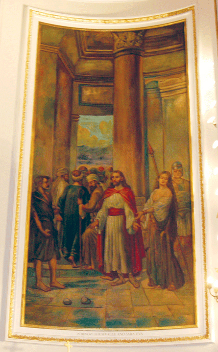 Principal Episodes in the Life of Christ, mural behind altar. Photograph ©2007 Janice Carapellucci. Used with permission.